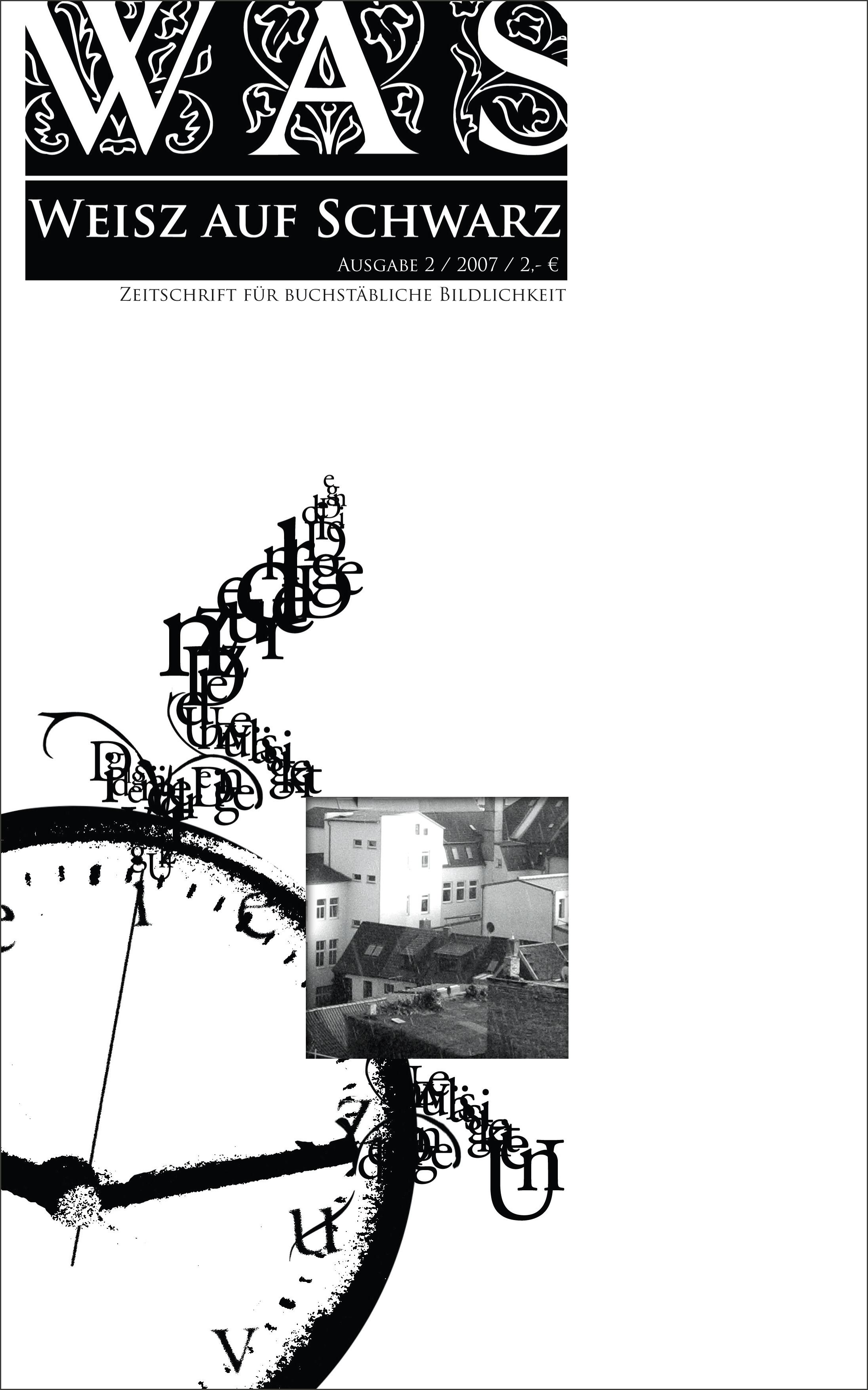 #2 Zeitschrift für buchstäbliche Bildlichkeit